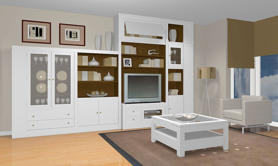 Muebles de salon modernos Doble altura