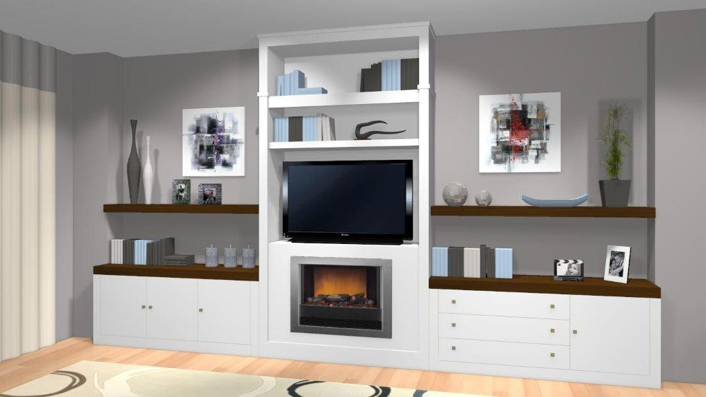 Muebles de salon con chimenea beautiful review image - Muebles para chimeneas ...